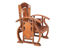 Wooden arm chair. Stock Photo