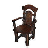 Wooden armchair Royalty Free Stock Photography