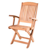 Wooden armchair Royalty Free Stock Photos