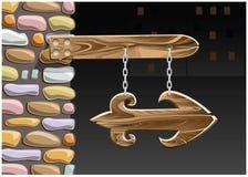Wooden arrow Stock Photography