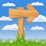 Wooden arrow Stock Image
