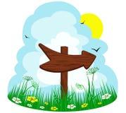 Wooden arrow Royalty Free Stock Photo