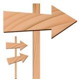 Wooden Arrow Sign stock illustration