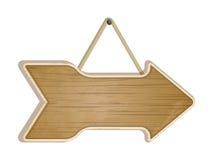 Wooden arrow sign on white Stock Photos