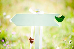 Wooden arrow sign Stock Images