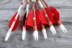 Wooden arrows Stock Photos