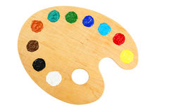 Wooden art palette Royalty Free Stock Image