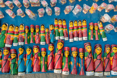 Wooden Art work , Indian handicrafts fair at Kolkata Stock Images