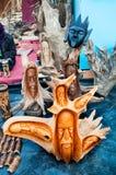 Wooden Art work , Indian handicrafts fair at Kolkata Royalty Free Stock Image