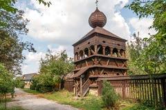 Wooden Articular Belfry in Hronsek Royalty Free Stock Photos