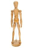 Wooden Artist dummy model Royalty Free Stock Image