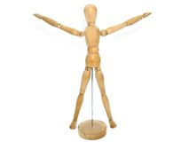 Wooden Artist dummy model royalty free stock images