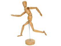 Wooden Artist dummy model Stock Photos