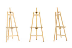 Wooden Artist Easel. 3d Rendering. Wooden Artist Easel on a white background. 3d Rendering Royalty Free Stock Images
