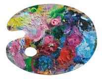 Wooden artist's palette Stock Image