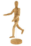 Wooden artists Mannequin. On a white background Stock Photo