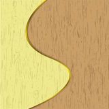 Wooden artwork. Design by illustrations Stock Photography
