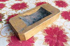 Wooden ashtray Stock Image