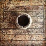 Wooden ashtray Royalty Free Stock Image