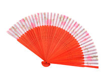 Wooden asian fan Royalty Free Stock Photo