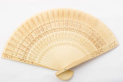 Wooden asian fan Stock Images