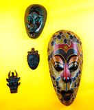 Wooden Asian Mask Studio quality light royalty free stock images