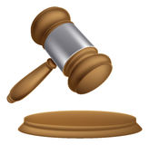 Wooden auction gavel Royalty Free Stock Photography