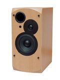 Wooden audio speaker Stock Image