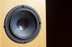 Wooden audio speaker Stock Images