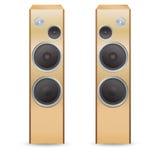 Wooden  audio speakers Stock Photo