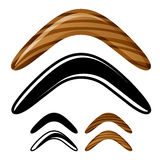 Wooden australian boomerang icons Royalty Free Stock Images