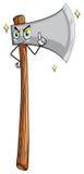 Wooden axe Stock Photo