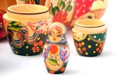 Wooden babushka Stock Photos