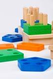 Wooden baby blocks Royalty Free Stock Image