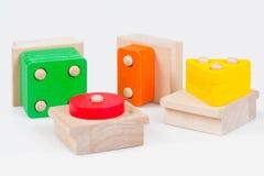 Wooden baby blocks Stock Photos