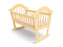 Wooden Baby Crib Stock Images