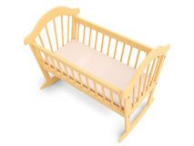 Wooden Baby Crib Stock Image