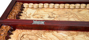 Wooden backgammon Royalty Free Stock Image