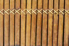 Wooden background. Background of brown wooden sticks and wicker Stock Image