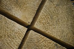 Wooden background. Close-up of a log Stock Photo