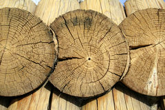 Wooden background. Background from wooden boards. circle Royalty Free Stock Images
