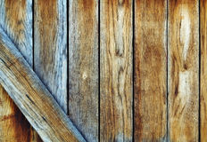 Wooden background. Wooden texture on the shed doors Stock Photos