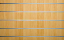 Wooden background. With metal lines Stock Photography