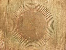 Wooden background. Witch concentric circles Royalty Free Stock Photography