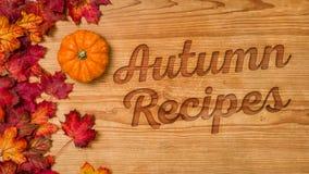 Autumn Recipes Stock Image