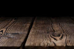 Wooden background (with black Copyspace) Royalty Free Stock Images