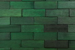 Wooden background. Wooden bricks green wall background Stock Photo