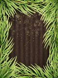 Wooden Background With Christmas Fir Tree. EPS 10 vector Royalty Free Stock Photography
