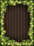 Wooden Background With Christmas Fir Tree. EPS 10 vector Royalty Free Stock Photo