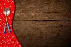 Wooden background for Christmas menu Royalty Free Stock Photos